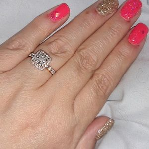 1 1/5 cttw princess 14k rose gold engagment ring